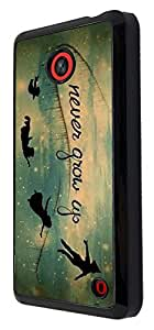 Out Of This World Space Galaxy never grow up Cartoon Funky Design Nokia Lumia 630 Fashion Trend Cool Case Back Cover Plastic/Metal