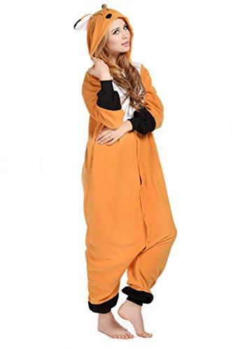 Unisex Onesies Pajamas Kigurumi Cosplay Costume Fox Animal Sleepwear (Character Adult Onesie)