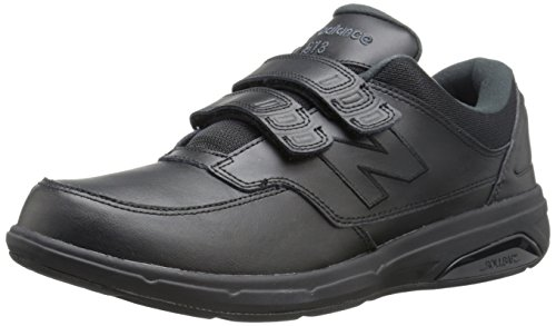 New Balance Men's MW813V1 Hook and Loop Walking Shoe, Black, 11 D ()
