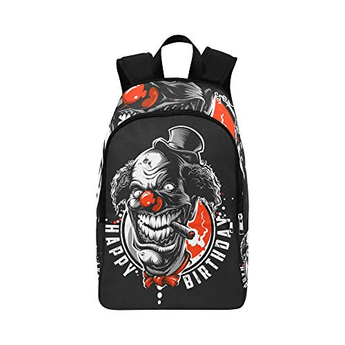 APJDFNKL Evil Scary Clown Monster Casual Daypack Travel Bag College School Backpack for Mens and Women