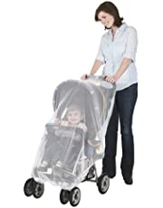 J is for Jeep Mosquito Net for Baby Standard Strollers and Carriers, White, Universal Size, Bug Cover, Weather Protection