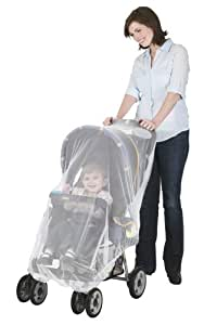 J is for Jeep Mosquito Net for Strollers, Mosquito Net for Car Seat and Infant Carrier, Universal Size, Bug Cover, Weather Protection, White