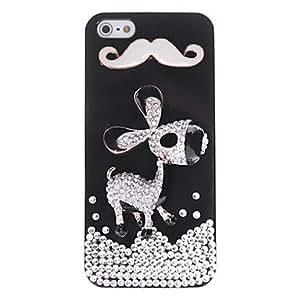 comprar Burro patrón de metal de la joyería de nuevo caso de Avanti para el iPhone 5/5S (colores surtidos) , Blanco