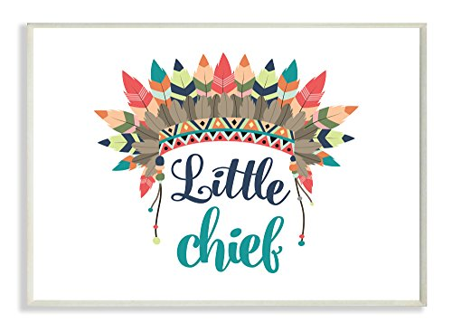 Stupell Home Décor Little Chief With Feathers Wall Plaque