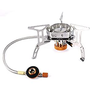 Outry 3500W Foldable Camping Gas Stove with Piezo Ignition, Outdoor Portable Stove Cooking with Carrying Case Box