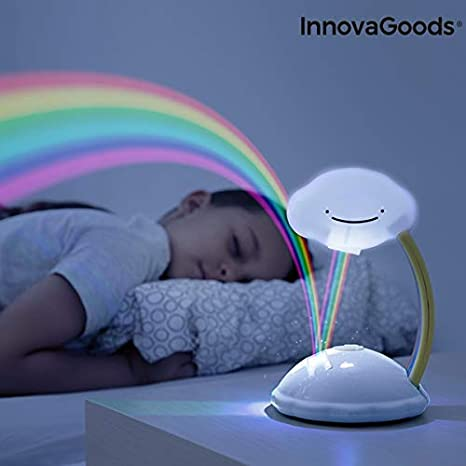 InnovaGoods Proyector LED Nube Arcoíris Libow, Blanco: Amazon.es ...