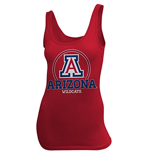 NCAA University of Arizona Women's Jersey Tank, Large, Red