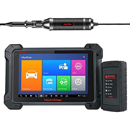 Autel MK908 Wireless Diagnostic Scan Tool with ECU Coding ADAS Full Bi-Directional Control IMMO Keys All Systems OE-Level Diagnosis Services Oil Reset, EPB, SAS, DPF TPMS, ABS Bleeding MV108 Add-On