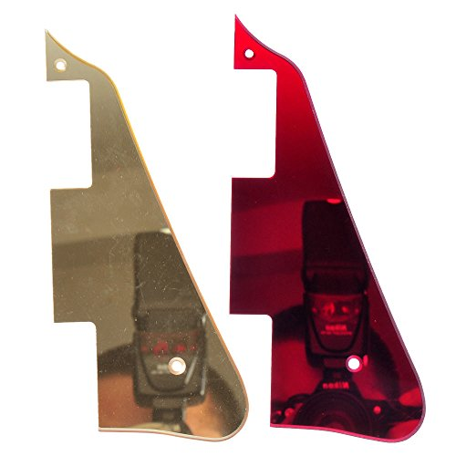 2 pieces of gold and red mirror Guitar Pickguard for Gibson LP Guitar Replacement