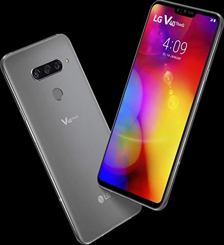 LG V40 ThinQ LM-V409N Dual Sim (Platinum Gray, 128GB) - Factory Unlocked - International Version - GSM ONLY, NO CDMA - No Warranty in The USA
