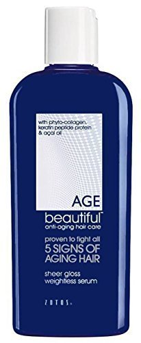 (AGE Beautiful by Zotos Sheer Gloss Weightless Serum 4oz Anti-Aging Hair Care)