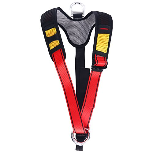 YaeCCC Climbing Harness Safe Seat Belt for Fire Rescue High Altitude School Assignment Caving Rock Climbing Rappelling Equipment Body Guard Protect (Upper Body)