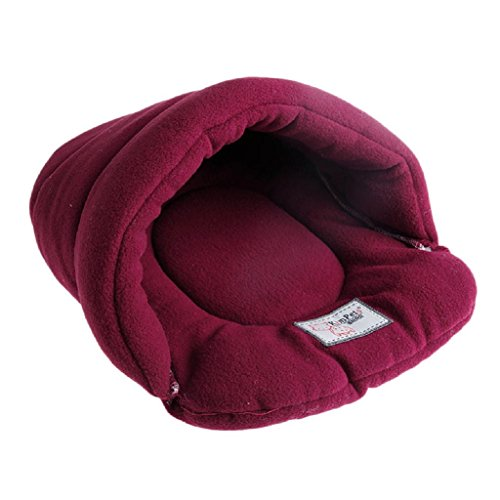 Yeahii Plush Soft Warm Pet Bed House Cozy Nest Mat Pad Cushion for Cat Dog New (Red, S)