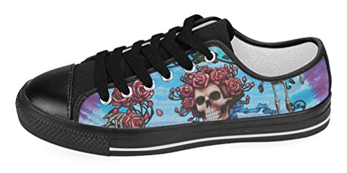 Kvinners Uformelle Sko Dame Lerret Sneaker Med Grateful Dead Tema Gd8