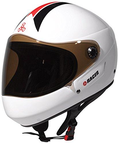 Triple 8 Downhill Racer Helmet, White Glossy, X-Small