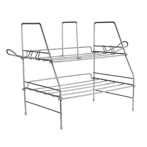 Atlantic Game Depot - Wire Gaming Rack Stores and Organizes all your Gaming Gear, Made from Durable Heavy Gauge Steel Wire PN45506114 (Game Console Rack)