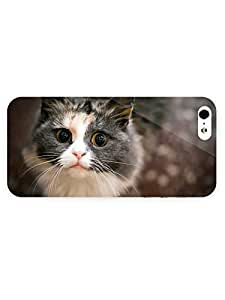 3d Full Wrap Case for iPhone 5/5s Animal Curious Cat36