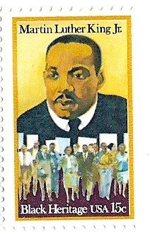 Martin Luther King Stamp (Martin Luther King Jr.1979 Postage Stamp USA 15 Cents Scott #1771)