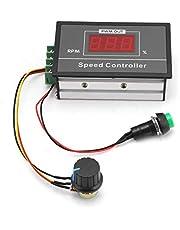 DC6-60V 6V 12V 24V 48V 30A PWM DC Motor Speed Controller, Stepless DC Digital Display Motor Speed Controller with Momentary Start/Stop Switch/Speed Control Potentiometer