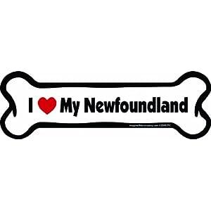 Imagine This Bone Car Magnet, I Love My Newfoundland, 2-Inch by 7-Inch 36