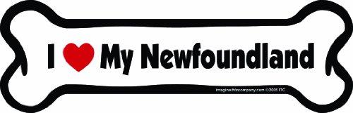 Bone Newfoundland - Imagine This Bone Car Magnet, I Love My Newfoundland, 2-Inch by 7-Inch