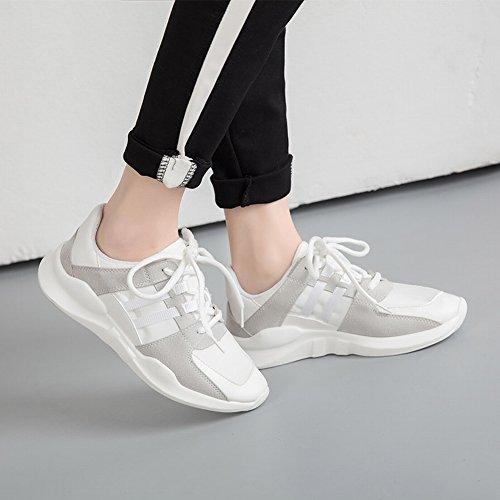 Los Deportes Calzan la Cabeza Redonda Femenina con Los Zapatos Transpirables de Los Zapatos Casuales de Los Estudiantes Del Color Bajo , negro , EUR34.5