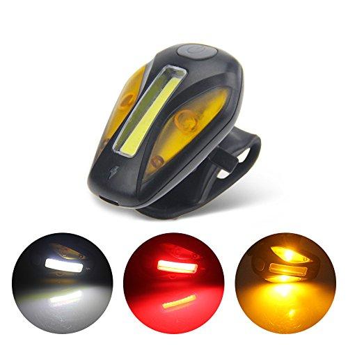 Uelfbaby Ultra Bright Bike Rear Light Safety Warning Flashing Lamp Alarm Light 6 Mode Bike Light 120 Lumen Waterproof USB Rechargeable Fits Cycling (Comet)