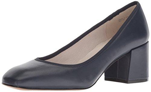 (Kenneth Cole New York Women's Eryn Low Heel Square Toe Dress Pump Navy Leather, 8 M US)