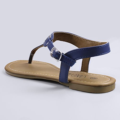 blue Navy Women's Buckle Flat Claire Sandalup Thong with Sandals vw8npqR