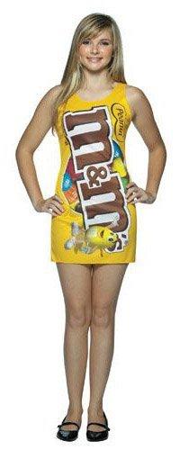 [Rasta Imposta M&M's Peanut Tank Dress, Yellow, Teen 13-16] (Yellow Tank Dress Costumes)