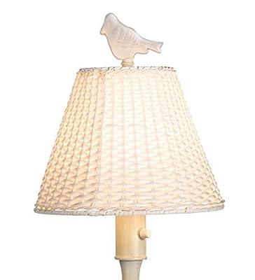 Plow & Hearth Waterproof Outdoor Wicker Floor Lamp
