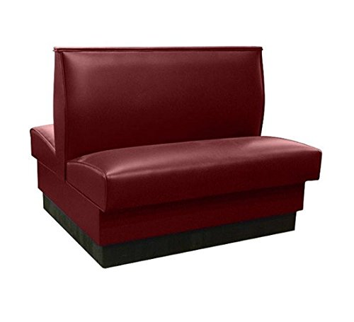 American Tables & Seating QAD-36-Sangria-ARM-120-M Plain Back Upholstered Booths, Double, 36