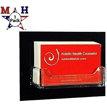 Amazon marketing holders single pocket wall mount business card marketing holders single pocket wall mount business card holder black back 1 reheart Choice Image