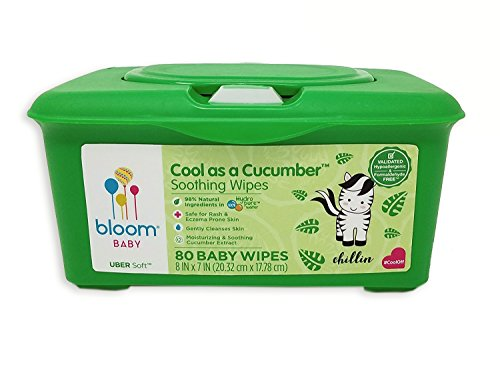 Cool as a Cucumber Baby Wipes by bloom BABY | For Sensitive Skin | Formulated for Diaper Area | Infused with Plant-Derived Vitamins | Hypoallergenic | Textured & Thick 8