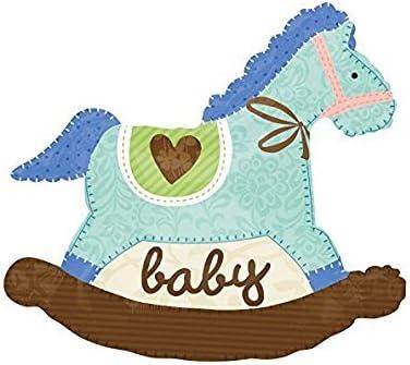 Anagram International Rocking Horse, 29', Baby Blue [並行輸入品]