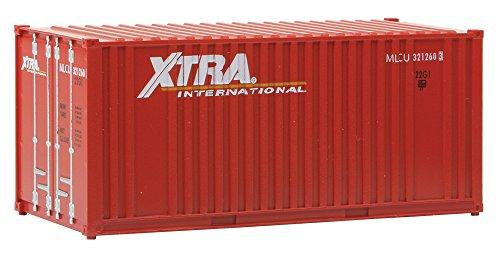 Ho Walthers Container Scale (Walthers SceneMaster 20' Container w/Flat Panel Xtra Leasing-Assembled Train Collectable)