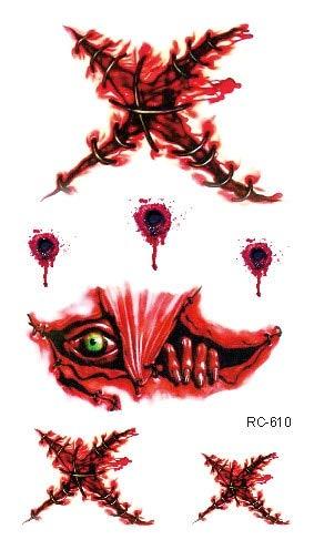 Máscara de Halloween Tatuaje de fiesta Horrible Zombie Cicatrices ...