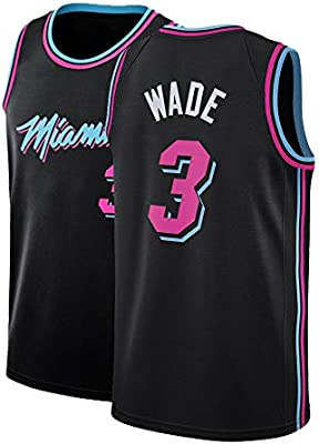 finest selection 90950 6f360 Amazon.com : Gumfor Mens Miami 3 Wade Jersey Basketball ...