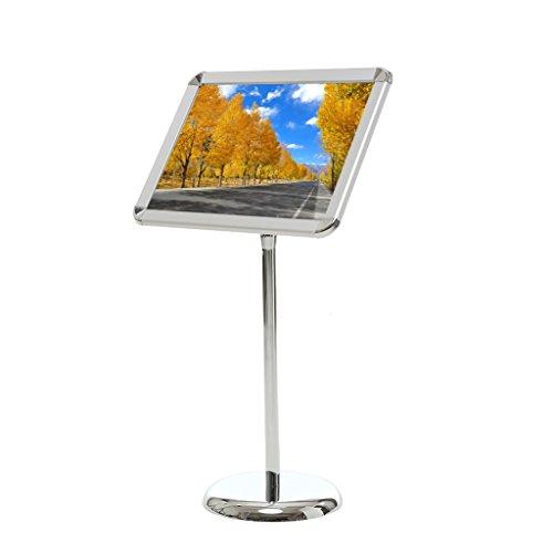 Loywe Infoständer Plakatständer Ständer aus Metall Höhe Verstellbar LW3520