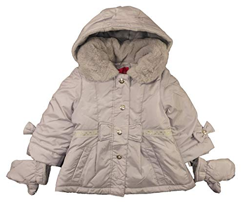 London Fog Baby Girls' Infant Outerwear Coat with Mittens, Grey, 18M
