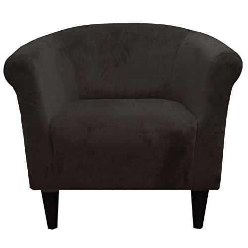 - Parker Lane Savannah Club Chair, Microfiber Chocolate Brown