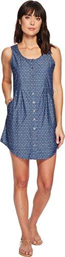 - Mod-O-Doc Women's Woven Jacquard Button Front Tank Dress Blue Large