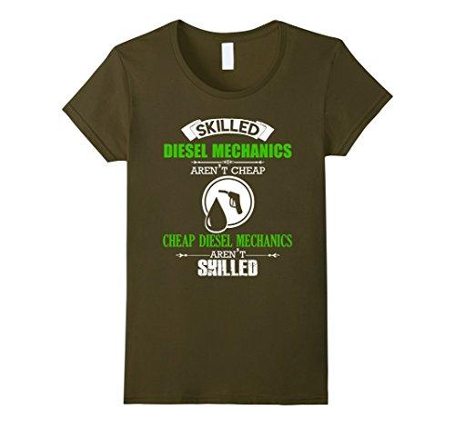 Womens Diesel Mechanic T shirt - Skilled Diesel Mechanic ...