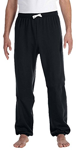 Bella + Canvas Unisex Fleece Long Scrunch Pant, Medium, BLACK