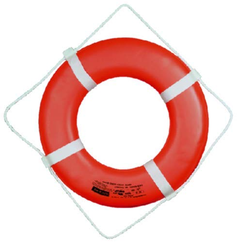 Cal June USCG Approved Ring Buoy (30- Inch Diameter, Orange) ()