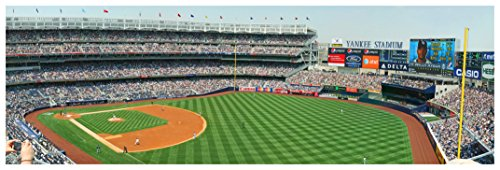 View Terrace - ArtsyCanvas Yankee Stadium, Terrace Level View - Baseball Field - 36x12 Matte Poster Print Wall Art