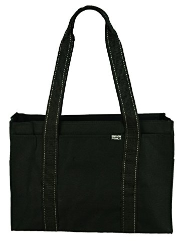 Poly Zipper Tote Bag, Black ()