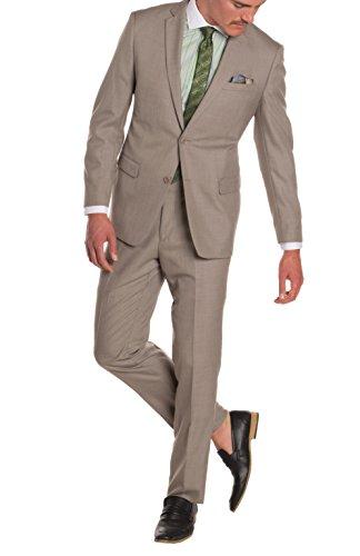 Cheap Suit (40L Ferrecci HART Brown Slim Fit 2pc Suit)