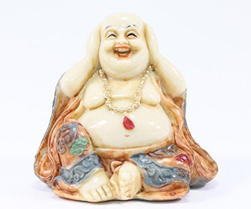 Feng Shui Hear No Evil Happy Face Laughing Buddha Figurine Home Decor Statue