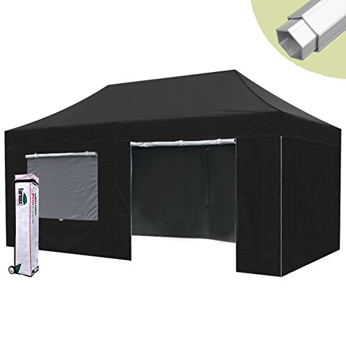 10×20 Eurmax Pop up Gazebos Canopy Tent High Commercial Canopy Gazebo w/ 4 Sidewalls Select Color